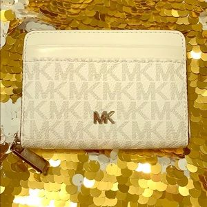 Michael Kors white and light Greg wallet